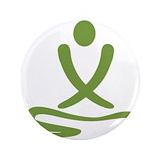 "Green massage design 3.5"" Button"