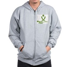 Green massage design Zip Hoodie