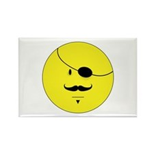 Mustache Smiley Face Rectangle Magnet