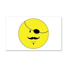 Mustache Smiley Face Car Magnet 20 x 12