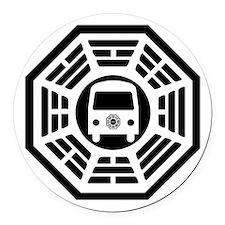 Dharma Van Round Car Magnet
