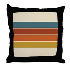 Retro Stripe Throw Pillow