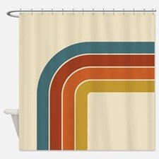 Retro Curve Shower Curtain