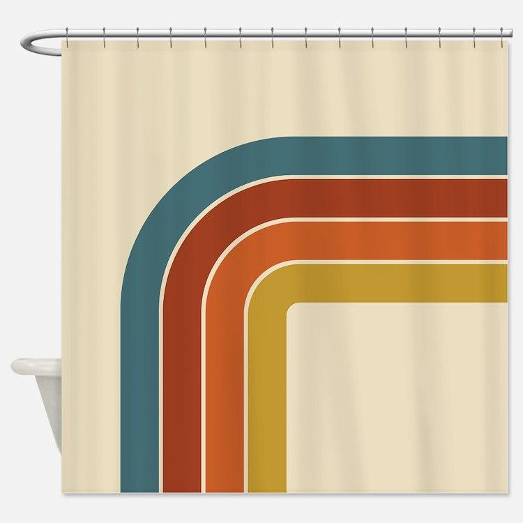 Retro Atomic Starburst Shower Curtain