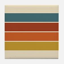 Retro Stripe Tile Coaster