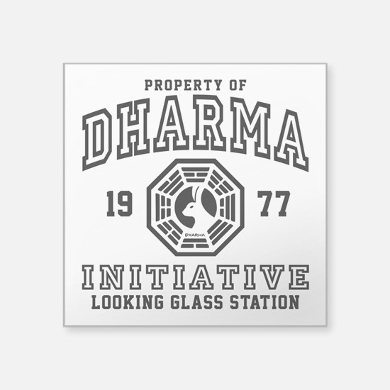 """Dharma Looking Glass Square Sticker 3"""" x 3"""""""
