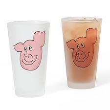 cute piggy Drinking Glass