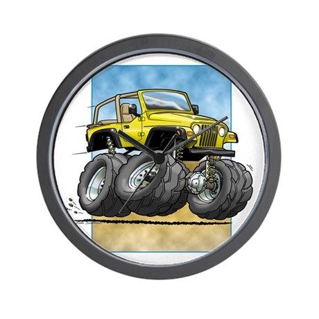 Yellow Wrangler Wall Clock