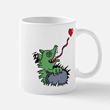 heart eating reptile chameleon Mug