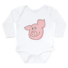 cute piggy Long Sleeve Infant Bodysuit