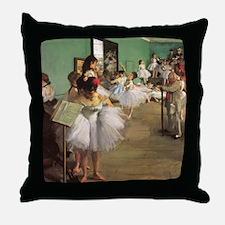 Edgar Degas Dancing Class Throw Pillow