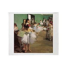 Edgar Degas Dancing Class Throw Blanket
