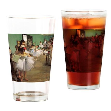 Edgar Degas Dancing Class Drinking Glass