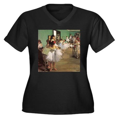 Edgar Degas Dancing Class Women's Plus Size V-Neck