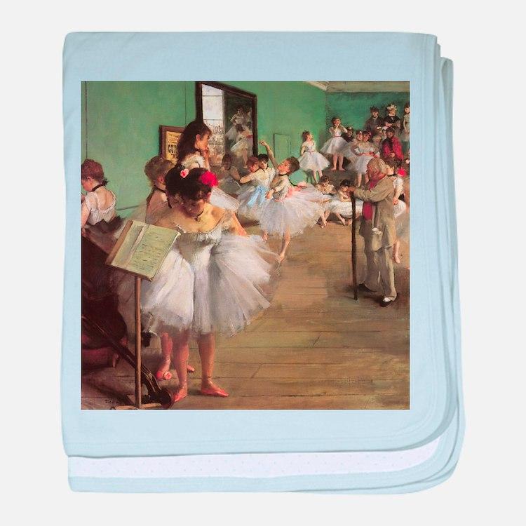 Edgar Degas Dancing Class baby blanket