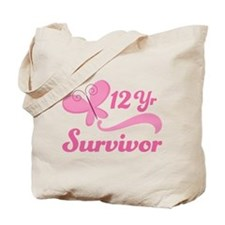 12 Year Survivor Breast Cancer Tote Bag