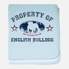 English Bulldog baby blanket