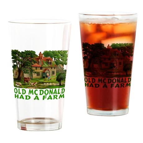 OLD MCDONALD HAD A FARM Drinking Glass