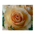 Apricot Colored Rose Throw Blanket