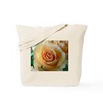 Apricot Colored Rose Tote Bag