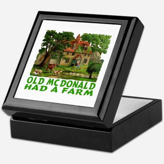 OLD MC DONALD HAD A FARM Keepsake Box
