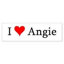 I Love Angie Bumper Bumper Sticker
