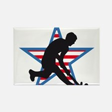 hockey player Rectangle Magnet