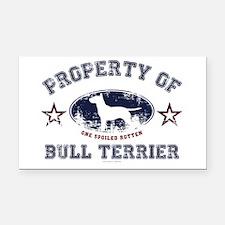 Bull Terrier Rectangle Car Magnet