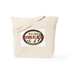 KOKE FM logo Tote Bag