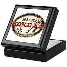 KOKE FM logo Keepsake Box