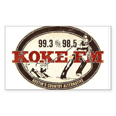 KOKE FM logo Sticker (Rectangle)