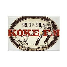 KOKE FM logo Rectangle Magnet