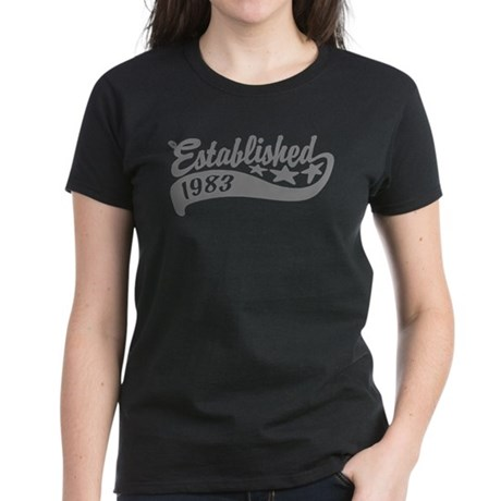 Established 1983 Women's Dark T-Shirt