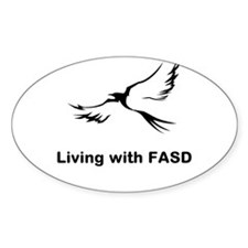 LIVING with FASD Decal