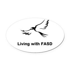 LIVING with FASD Oval Car Magnet