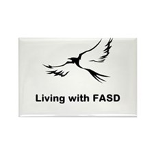 LIVING with FASD Rectangle Magnet