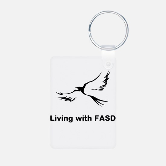 LIVING with FASD Aluminum Photo Keychain