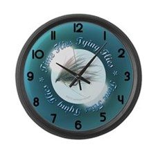 time flies tying flies Large Wall Clock