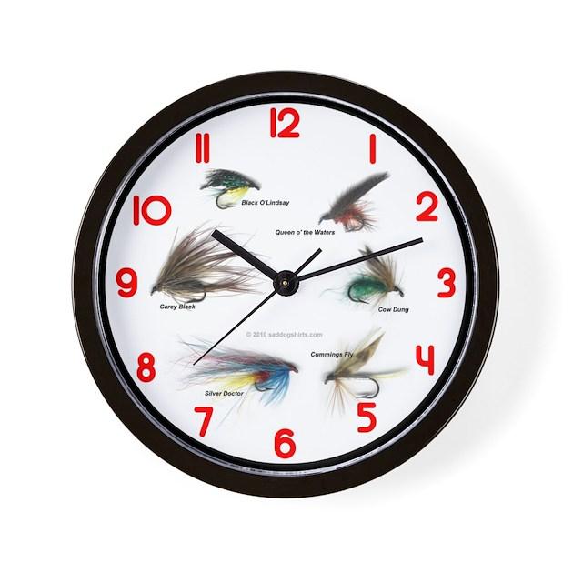Fishing time clocks wall clock by antiquefishing for Fish wall clock