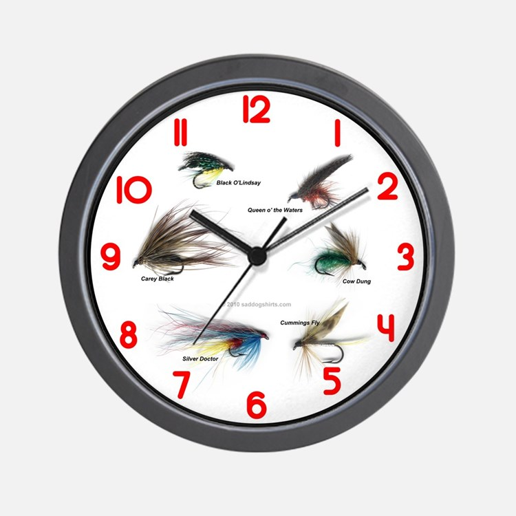 Fishing clocks fishing wall clocks large modern for Fish wall clock