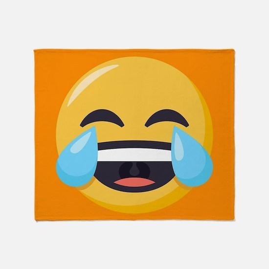 Crying Laughing Emoji Throw Blanket
