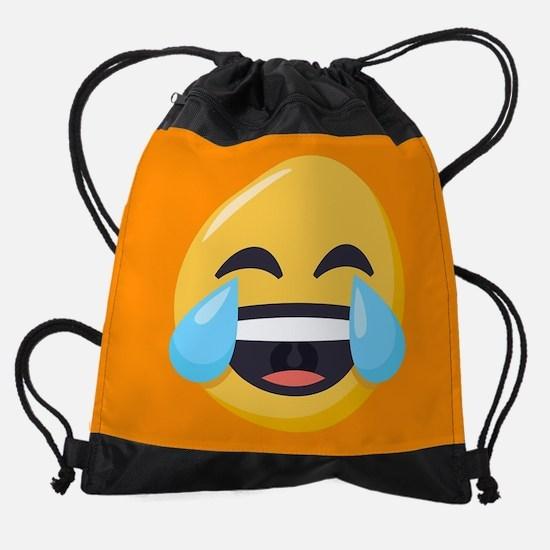 Crying Laughing Emoji Drawstring Bag