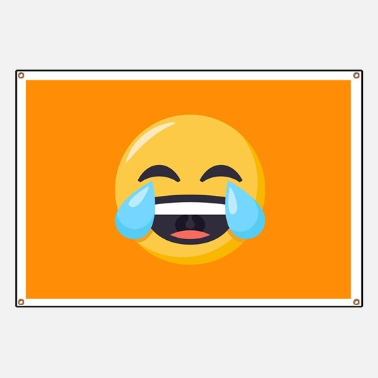 Crying Laughing Emoji Banner