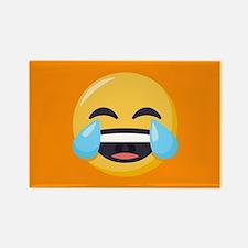 Crying Laughing Emoji Rectangle Magnet