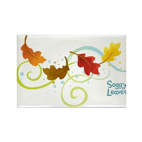 Soggy Leaves Rectangle Magnet
