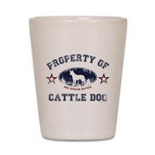 Cattle Dog Shot Glass