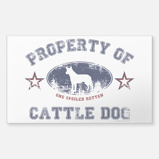 Cattle Dog Sticker (Rectangle)