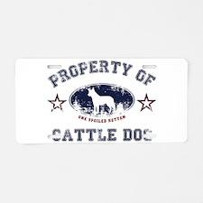 Cattle Dog Aluminum License Plate