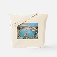 Eden Roc Motel 1950's Pool in Wildwood, N Tote Bag