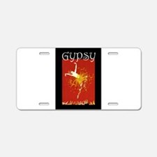 Gypsy Aluminum License Plate